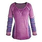 Women's Purple Plum Overdyed Cotton Sweater