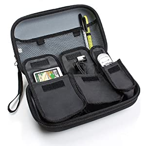 Hard Shell Travel Case for Select 4.3-Inch to 5-Inch Garmin Nuvi , Magellan Roadmate , TomTom GO Live GPS Navigators - To Hold Unit, Adapters, Memory Cards and Other Accessories by Accessory Genie