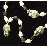Human Skull Glow Skulls Mardi Gras Bead Necklace Spring Break Cajun Carnival Festival New Orleans Beads