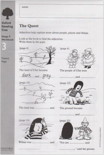 Oxford Reading Tree: Level 9: Workbooks: Workbook 3: The Quest and Survival Adventure (Pack of 6)