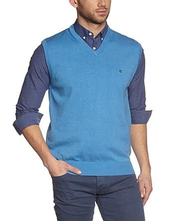 CASAMODA Herren Pullunder 004160/100, Einfarbig, Gr. Medium, Blau (hellblau 100)