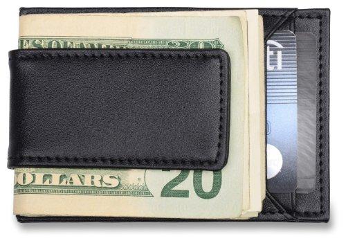 mens-credit-card-holder-money-clip-black-leather-wallet-fits-front-pocket
