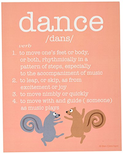 The Kids Room by Stupell 4 Piece Definitions Wall Plaque Set, Create/Dance/Laugh/Play