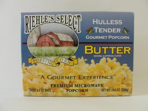 Riehle'S Select Popping Corn Hulless Butter Microwave Popcorn
