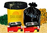 #6: Shalimar Virgin Garbage Bags (Small) Size 43 cm x 51 cm 6 Rolls (180 Bags) (Trash Bag / Dustbin Bag)