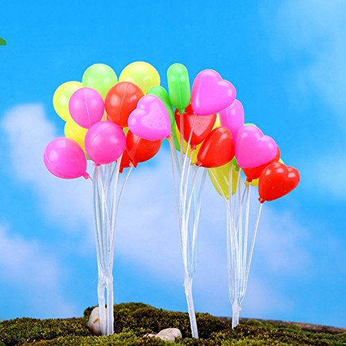 SUN-E 4 In Set Moss Fairy Miniature Fairy Garden Coloured Balloon Home Decoration Outdoor Decor (Outdoor Miniatures compare prices)
