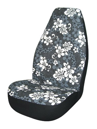 allison 67 0346blk black hawaiian print universal bucket seat cover pack of 2 vehicles parts. Black Bedroom Furniture Sets. Home Design Ideas