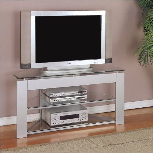 Cheap Glossy Silver Framed 48″ TV Stand (968-802)