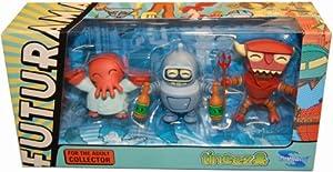 Futurama Tineez Figurine Set 3Pack Bender, Robot Devil Zoidberg