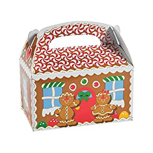 1 X Dozen Gingerbread Cardboard Treat Boxes