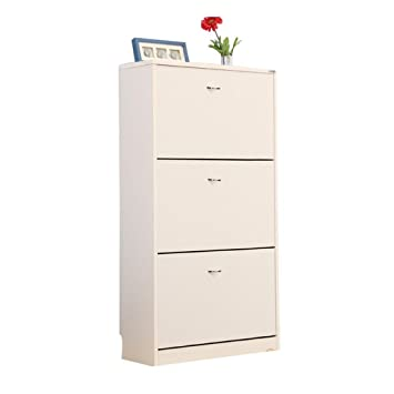 ALUK- European-style Einfache moderne Dumping Ultra-dunne Großraum-Schuh-Rack Hall Cabinet (breit 70cm * Deep 24cm * High 108cm) ( Farbe : Weiß )