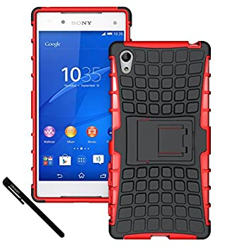 7. OEAGO Sony Xperia Z5 Case Cover Accessories - Tough Rugged Dual Layer Protective Case with Kickstand For Sony Xperia Z5