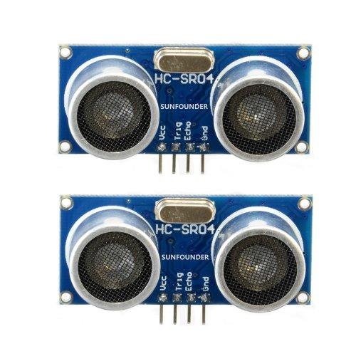 SunFounder 2 pcs Ultrasonic Module HC-SR04 Distance Sensor for Arduino UNO MEGA R3 Mega2560 Duemilanove Nano Robot XBee ZigBee