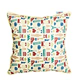 The Crazy Me Retro Travel Cushion Cover(16 By 16 Inch)