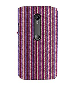 EPICCASE purple and pink straights Mobile Back Case Cover For Moto G 3rd Gen (Designer Case)