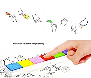 Newbested Washable Large Ink pads with Fingerprints drawing book For kids