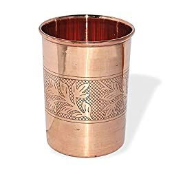 SHIV SHAKTI ARTS Copper Glass for Ayurvedic Health Benefits Drinkware Tumbler Indian Copper Utensils