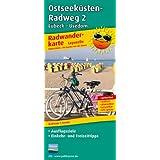 Radwanderkarte Ostseeküsten-Radweg 2 Lübeck-Usedom: Mit Ausflugszielen, Einkehr- und Freizeittipps, reissfest, wetterfest, beschriftbar und wieder abwischbar. 1:50000