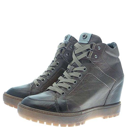 Janet Sport 34875 Sneakers Donna 100% Pelle Tortora Tortora 39