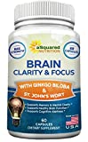 Brain Booster Nootropic Supplement for Focus, Memory & Clarity – Natural Brain Function Support Vitamin Pills for Mind Concentration & Mental Cognitive Health – St. John's Wort, DMAE, Ginkgo Biloba Reviews