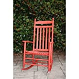 Adult Indoor/Outdoor Rocking Chair (RTA) Finish: Red