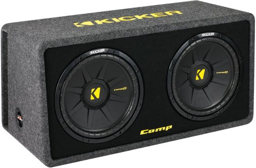 "Kicker Dcomps122 (40Dcws122) Dual 12"" Comps Series Loaded Subwoofer Enclosure With 2 Ohm Final Impedance"
