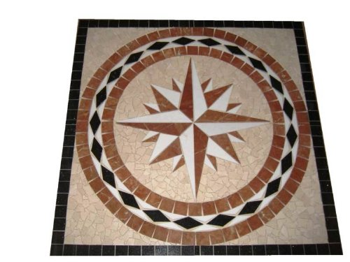 Tile Floor Medallion Marble Mosaic Square Star Design 28