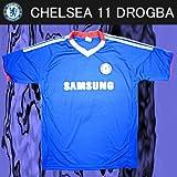 レプリカサッカーシャツ●チェルシー ドログバ 11番 ホーム半袖●T810