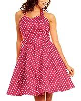 Polka Dot Vintage 1950er Rockabilly Kleider Neckholder Pin Up Tea Pünktchen fifties gepunktet Rock n Roll Jive Damen Frauen