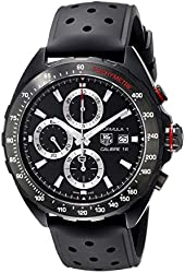TAG Heuer Men's CAZ2011.FT8024 Stainless Steel Watch with Black Rubber Band