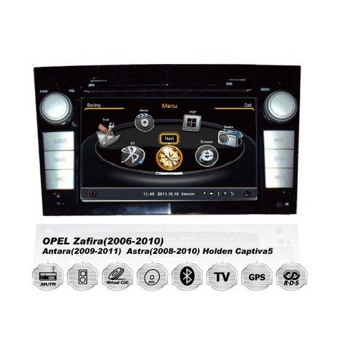 Realmedia Opel Astra Corsa Zafira Oem Digital Touch Screen Car Stereo 3D Navigation Gps Dvd Tv Usb Sd Ipod Bluetooth Hands-Free Multimedia Player Blk +++With Realmediashop Germany Warranty+++