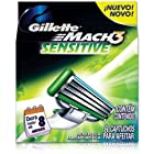 Gíllette Mach 3 Sensitive Razor Refill Cartridges 8-Count (Packaging may vary)