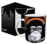 Steez Headphone Monkey (Monkey Wearing Headphones) Urban Graffiti Art Ceramic Boxed Gift Coffee (Tea Cocoa) 11 Oz. Mug