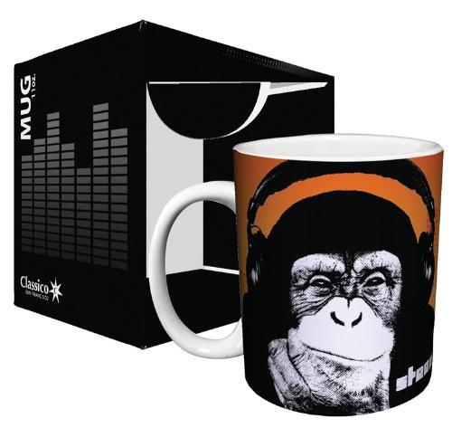 Steez Headphone Monkey (Monkey Wearing Headphones) Urban Graffiti Art Ceramic Boxed Gift Coffee (Tea, Cocoa) 11 Oz. Mug
