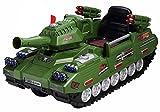 乗用ラジコン 戦車 TANK 【点検整備済みで発送】 カラー:グリーン Wモーター&大型バッテリー ペダルとプロポで操作可能な電動ラジコンカー 乗用玩具 子供が乗れるラジコンカー