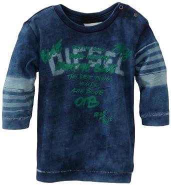 Diesel Baby-Boys Infant Taloheb Indigo Jersey Long Sleeve Tee, Indigo, 6 Months