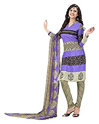 Clothing Deal Women's Crepe Georgette Unstitched Dress Material (Blue)
