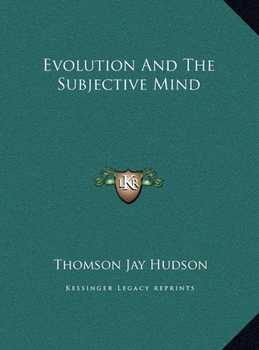 Evolution and the Subjective Mind