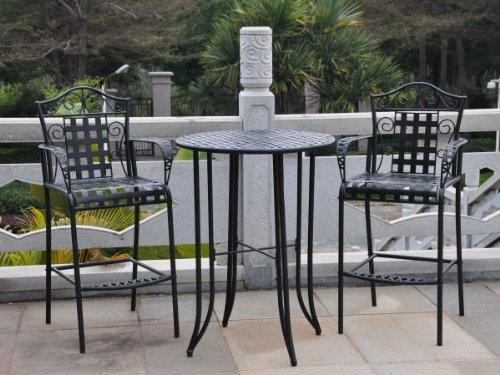 Outdoor Bistro Set - 3 Piece Patio Furniture