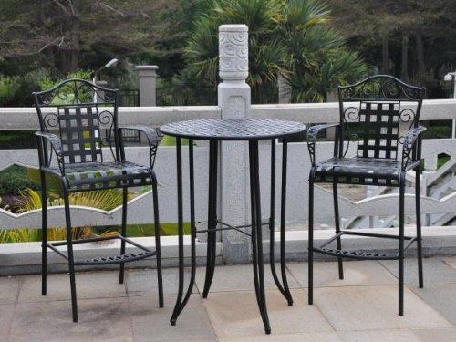 Outdoor Bistro Set - 3 Piece Patio Furniture