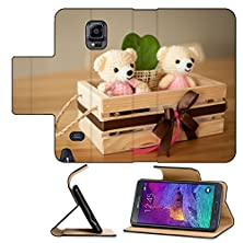 buy Luxlady Premium Samsung Galaxy Note 4 Flip Pu Leather Wallet Case Bear Dolls In A Box For Home Interiors Image Id 25170908