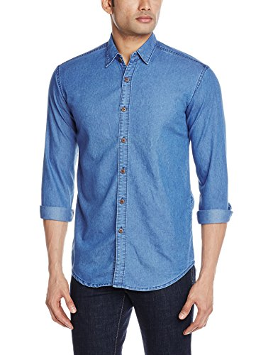 Urban District Men's Casual Shirt (UDSHRT060_Large_Light Blue)