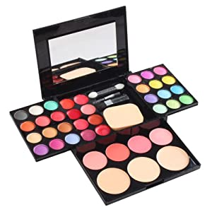 Profession 36 Color Cosmetics Makeup Kit 24 Eyeshadow Eye Shadow + 8 Lip Gloss Palette + Makeup Puff
