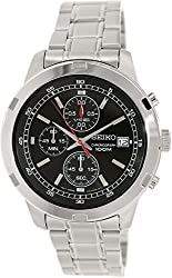 Seiko SKS421 Chronograph Black Dial Stainless Steel Mens Watch