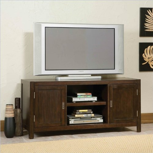 Home Styles Furniture City Chic Wood LCD/Plasma TV Stand in Espresso