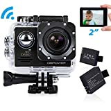DBPOWER-EX5000-20inch-WIFI-14MP-1080P-FHD-Waterproof-Sports-Action-Camera-with-2-Improved-Batteries-and-FREE-AccessoriesBlack