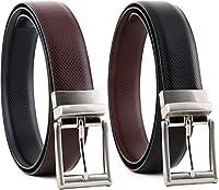 Laoz's(TM) Mens REVERSIBLE Leather Belt forever (One Belt)