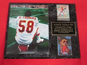 Derrick Thomas Kansas City Chiefs 2 Card Collector Plaque #2 w 8x10 Photo GREAT PHOTO by J & C Baseball Clubhouse