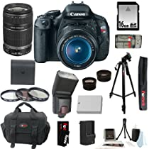 Canon EOS Rebel T3i SLR Digital Camera Kit with Canon 18-55mm IS Lens + TTL Flash for Canon Cameras + Wide Angle Macro Lens + 2x Telephoto Lens + 16GB SDHC + Replacement LP-E8 Battery & Charger + Focus 57-inch Tripod w/ Case + Accessory Kit