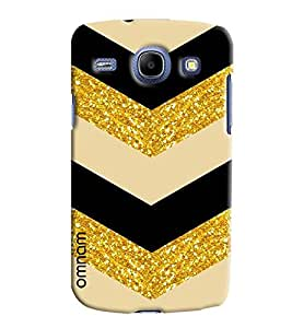 Omnam Stylish Angle Printed With Cream Black Golden Sparkle Designer Back Cover Case For Samsung Galaxy Core i8262